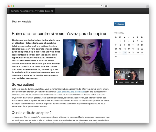Activetab template WordPress - tout-en-anglais.fr