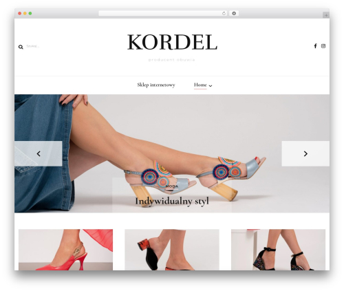 Blossom Fashion fashion WordPress theme - kordel.com.pl