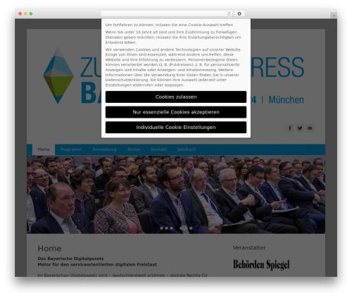 Catch Base Pro WordPress theme - zukunftskongress.bayern