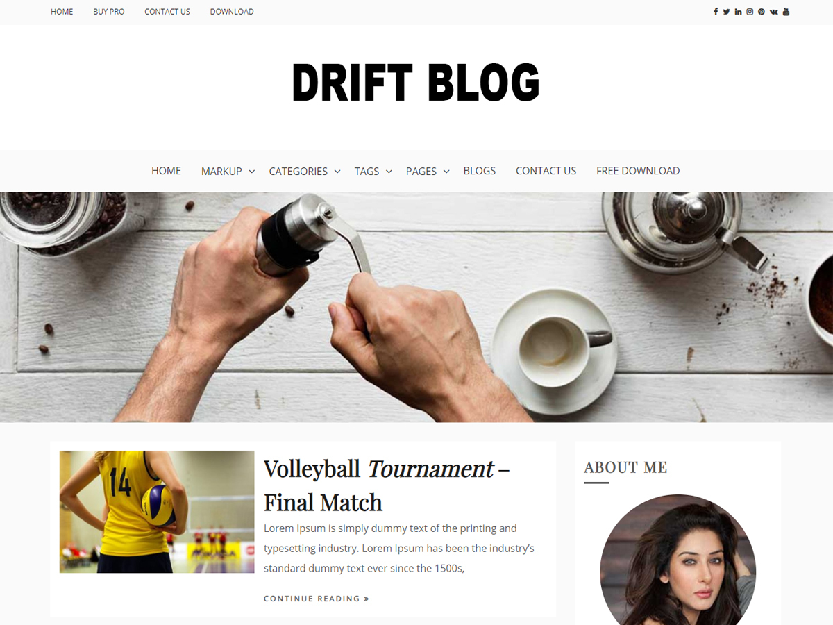 Drift Blog WordPress blog theme