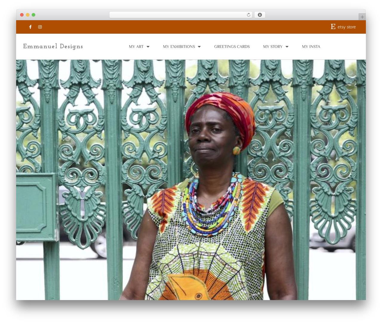 ioBoot theme WordPress - emmanueldesigns.london