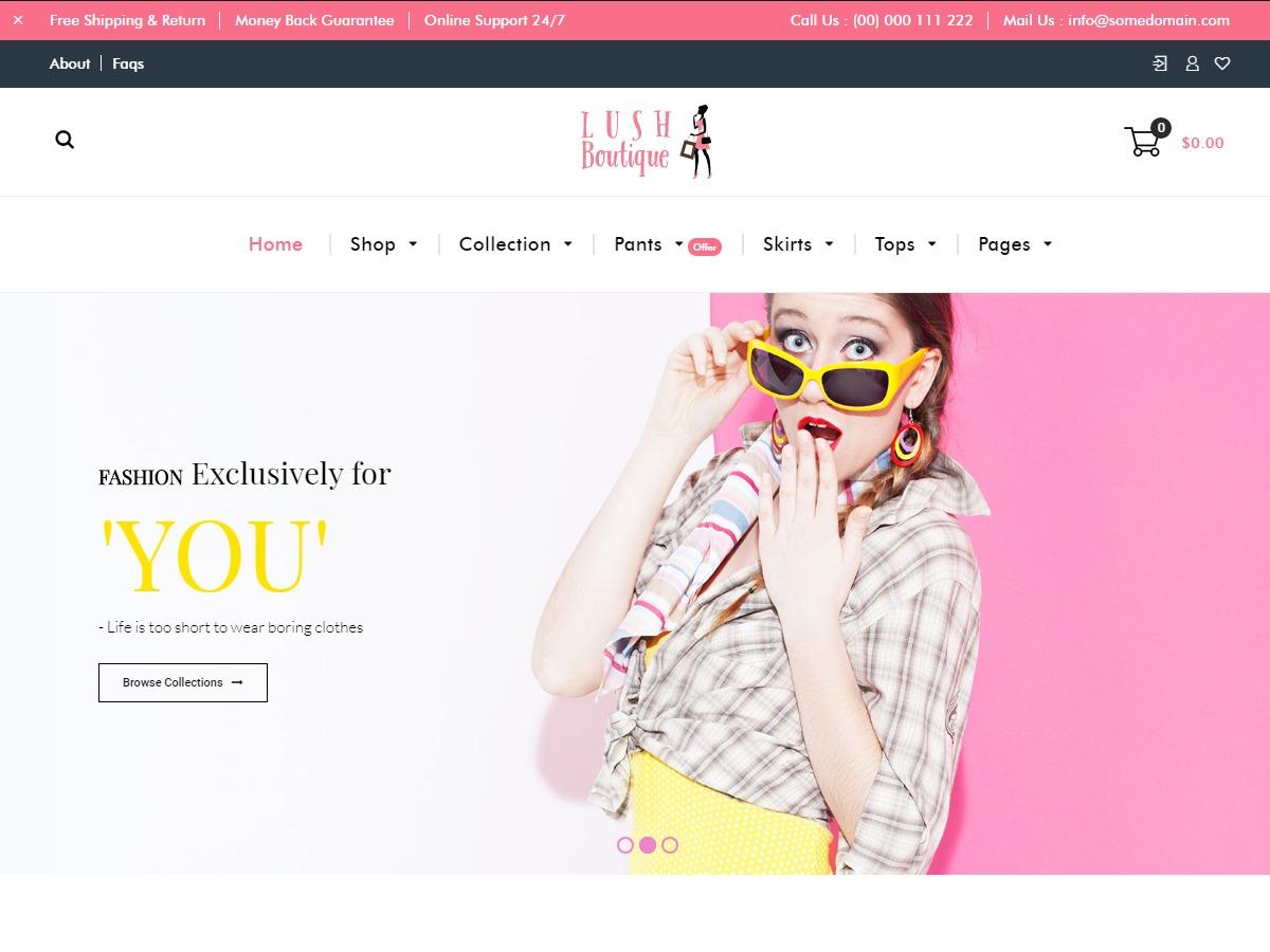 Lush Boutique WordPress shopping theme