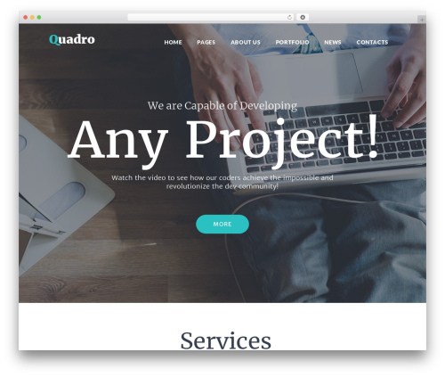 Quadro best WordPress theme - qatestingexperts.com