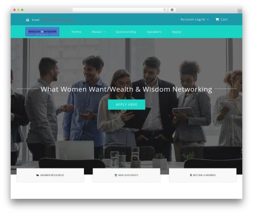 Avada company WordPress theme - whatwomenwantnetworking.com