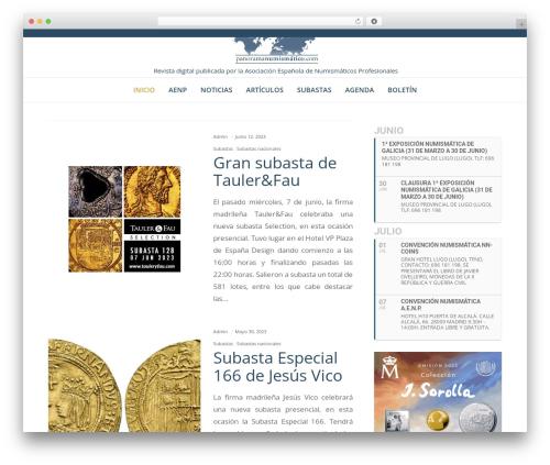 Best WordPress template Movedo - panoramanumismatico.com
