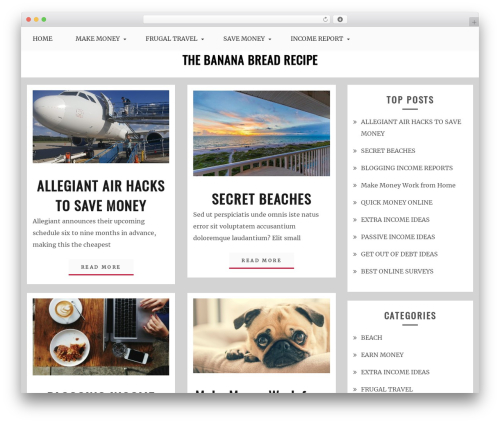 Best WordPress theme Blog Circle - thebananabreadrecipe.com