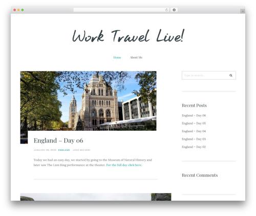 Carbis WordPress travel theme - worktravellive.com
