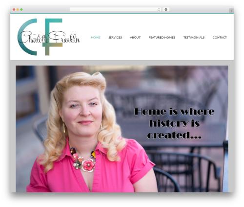 Conica best free WordPress theme - charlottefranklin.com