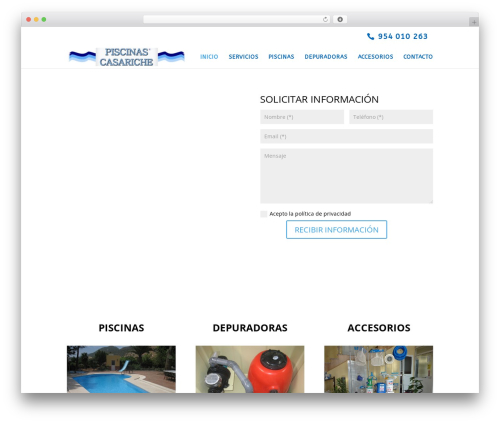 Divi best WordPress theme - piscinascasariche.com