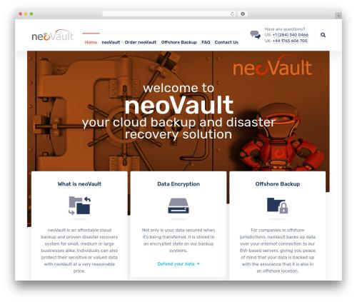 Nanosoft top WordPress theme - neovault.net
