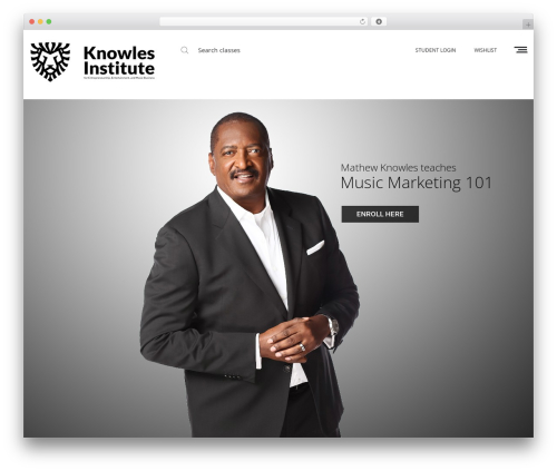 Oasis WordPress template for business - knowlesinstitute.com
