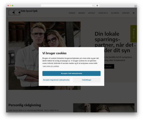 OnlinePlus Framework WordPress page template - holtespecialoptik.dk