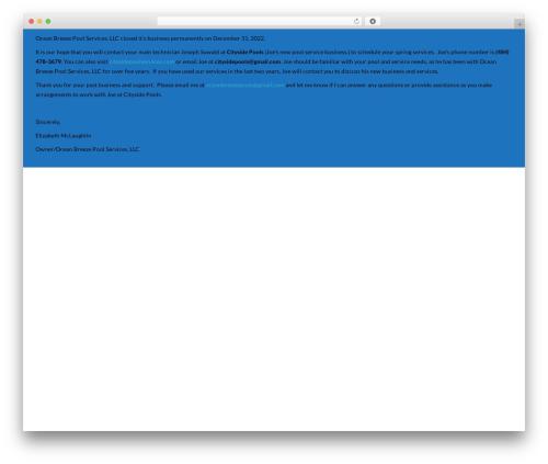 SwimmingPool WordPress theme - oceanbreezepoolservice.com