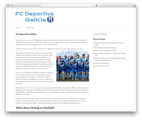 Theme WordPress Split - fcdeportivogalicia.co.uk