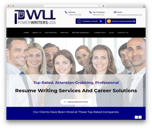 Twenty Seventeen free WordPress theme - powerwritersusa.com