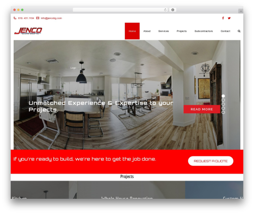 Veda WordPress theme - jencobg.com