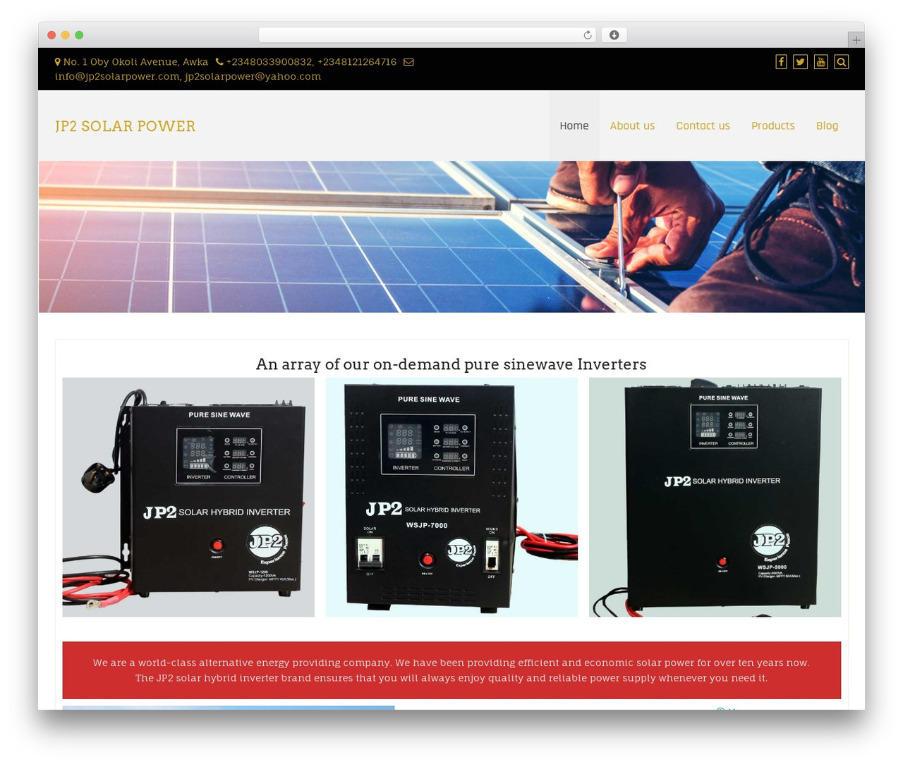 WordPress template Di Responsive - jp2solarpower.com