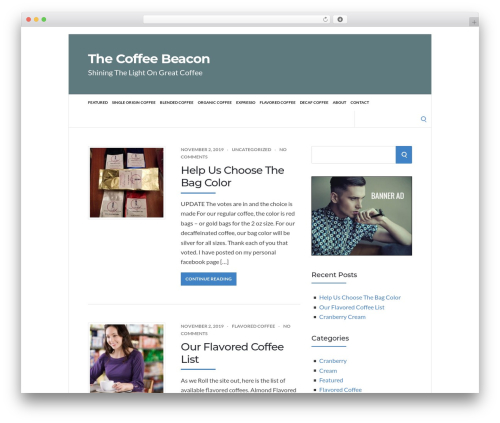 WordPress theme Socrates 5 Child - thecoffeebeacon.com