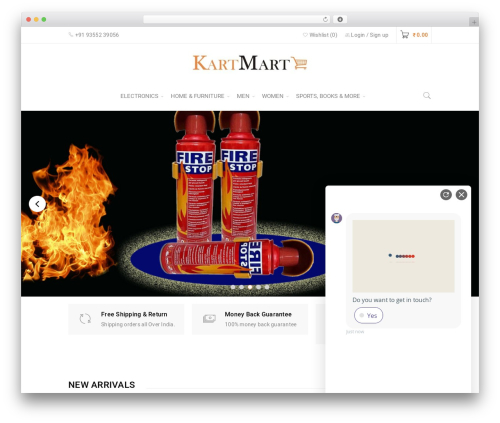 BoxShop WordPress ecommerce theme - kartmartindia.com