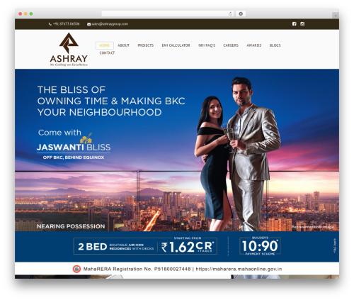 Bricks WordPress real estate - ashraygroup.com