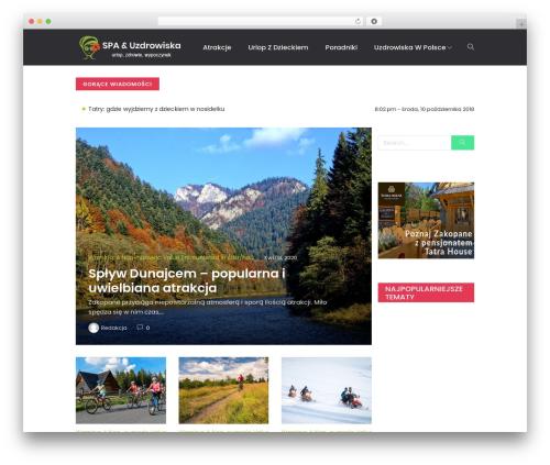 Peflican WordPress theme design - spa-uzdrowiska.pl