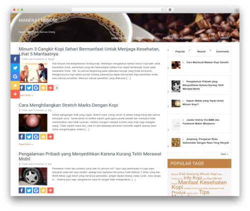 SKT Coffee theme free download - jualkopibubuk.com