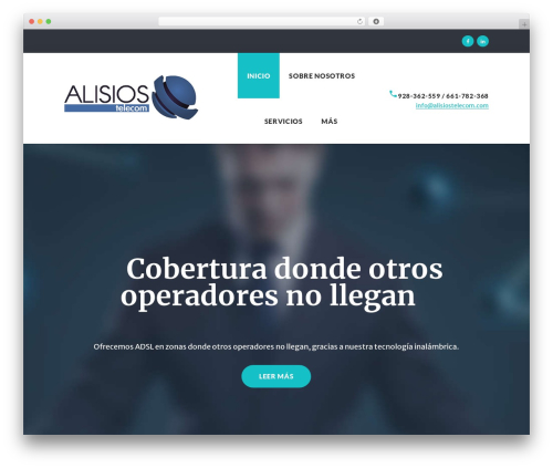 WordPress template Globaly - alisiostelecom.com