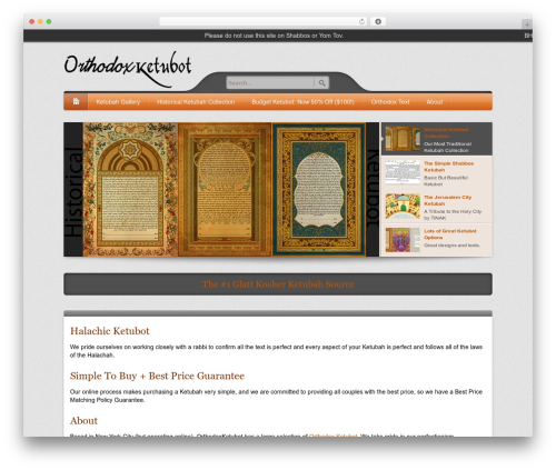 WordPress theme Bellissima - orthodoxketubot.com