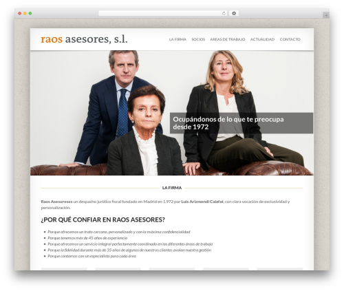 WordPress theme Smartbox - raosasesores.com