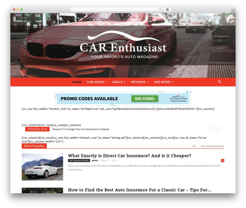 Newspaper WordPress theme - carinsurancequotesweb.com