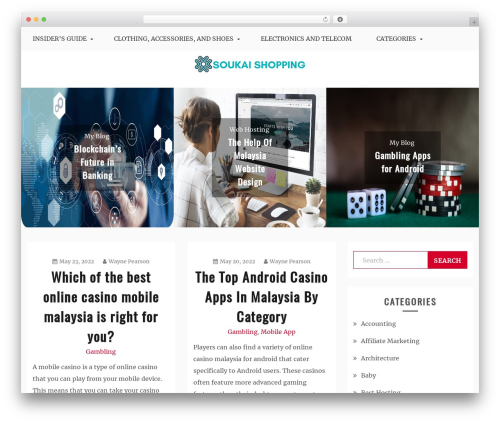 Blog Circle best WooCommerce theme - soukai.my