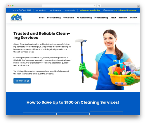 FastMoving WordPress theme - olgascleaningservices.com