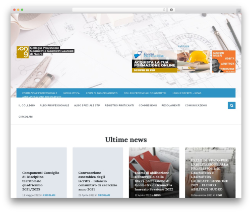 Pressville best WordPress template - geometrinuoro.it