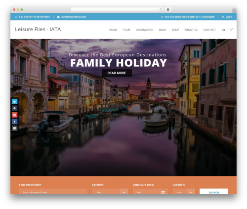 Aventura WordPress travel theme - leisureflies.com