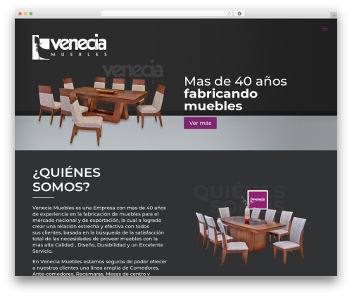 Best WordPress template Divi - mueblesvenecia.com