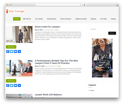 Eco Friendly Lite WordPress theme - suegooge.com
