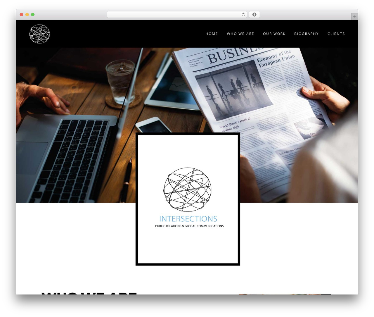 Haswell WordPress website template - intersectionspr.com
