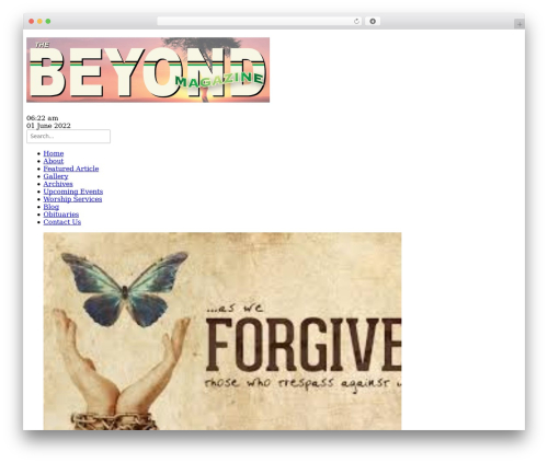 Headline News newspaper WordPress theme - thebeyondmagazine.com