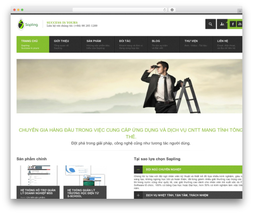 Point Multipurpose Retina WP Theme WordPress theme design - sapling.com.vn