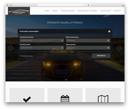 RentIt WordPress website template - rentacar-zg.com