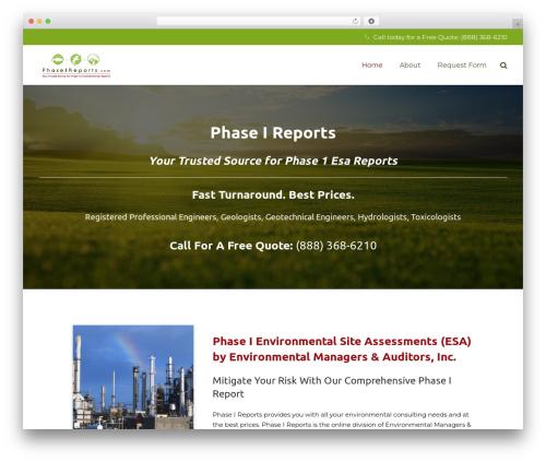 Theme WordPress Impreza - phaseireports.com