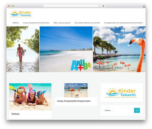 Webblog WordPress theme - kindenvakantie.nl