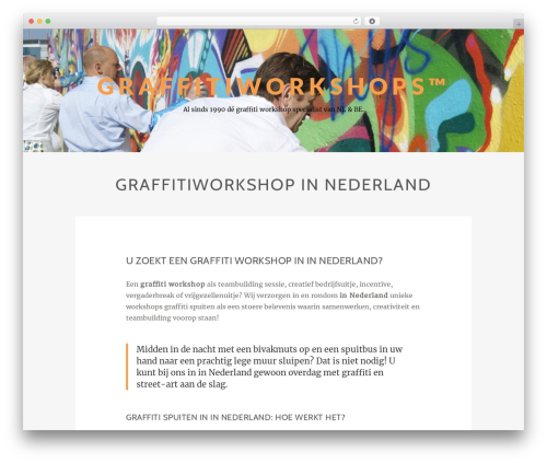 WordPress theme Zillah - graffiti-workshops.com