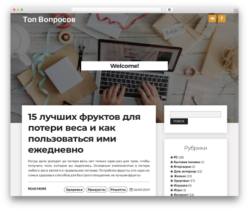 Writer Blog WordPress blog theme - voprosov.top