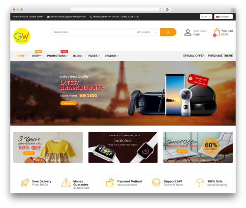 Bosmarket WordPress blog theme - glamwe.com