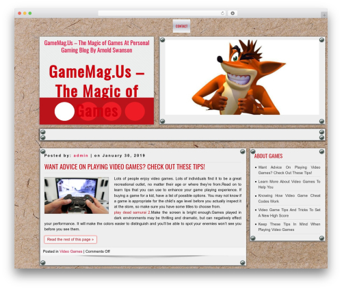 DISCUSSION WordPress theme download - gamemag.us
