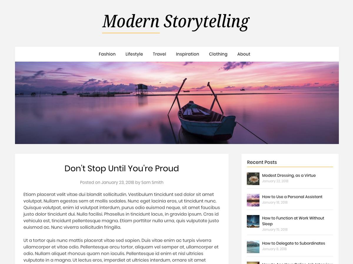 Modern Storytelling WordPress magazine theme