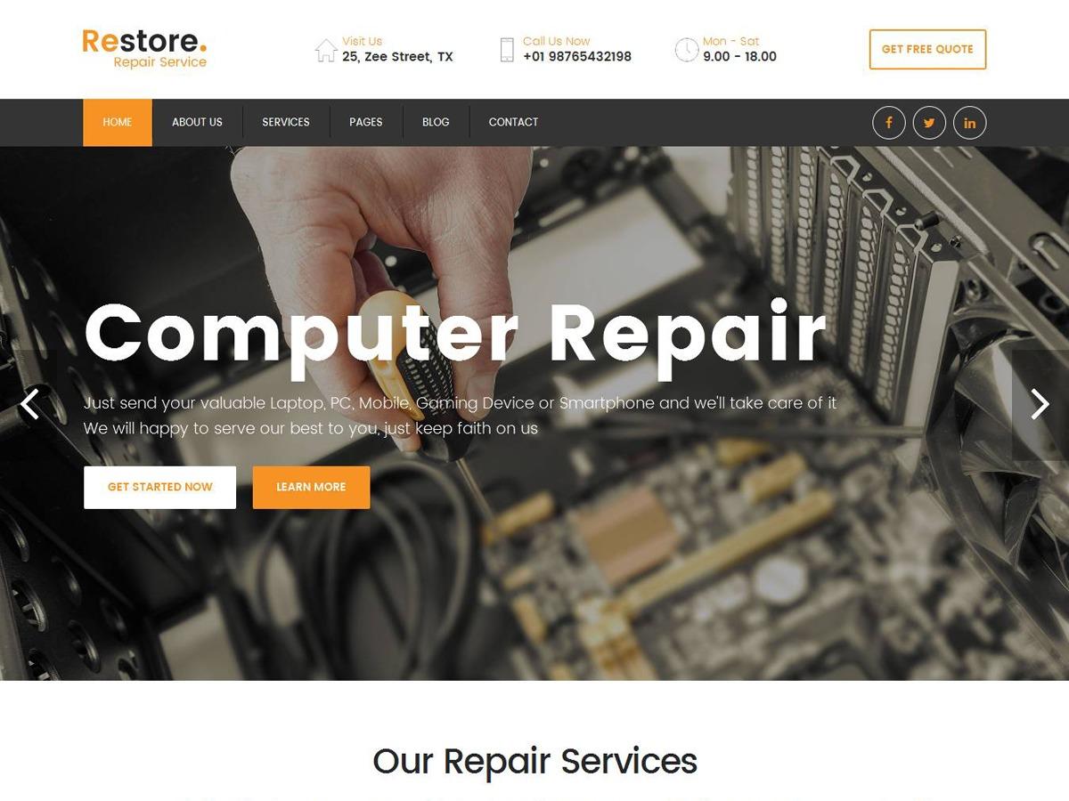 Restore WordPress shop theme