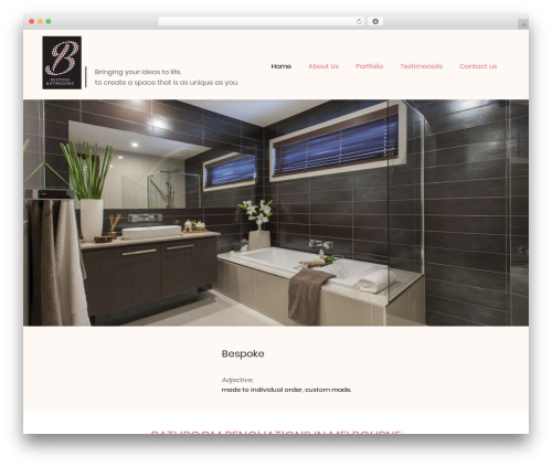 Theme WordPress Fiona - bespokebathrooms.melbourne