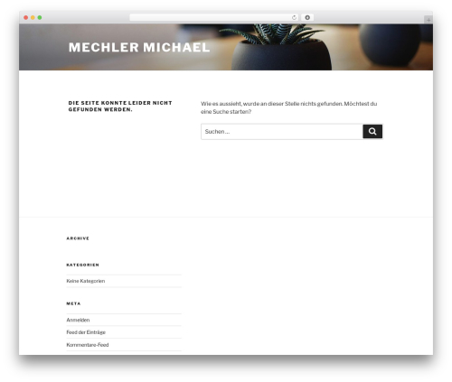 Twenty Seventeen best free WordPress theme - mechler-edv.de